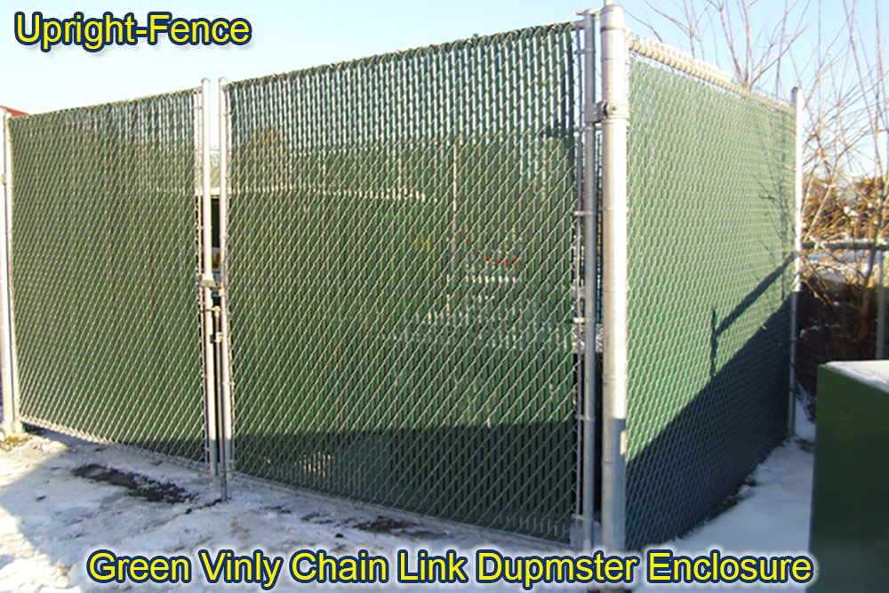 dumpster gate enclosures fencing upright fence westland mi