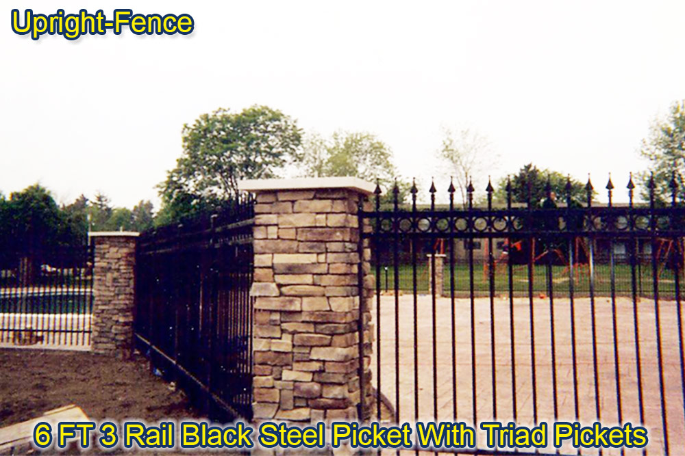 ornamental steel fencing upright fence westland mi