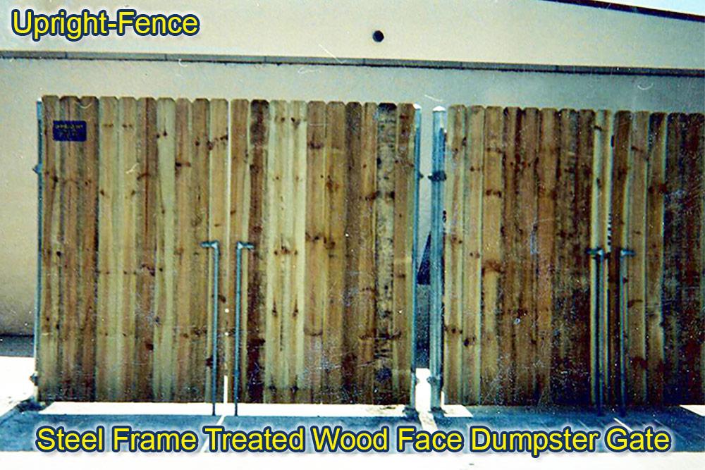 dumpster gate enclosures fencing upright fence westland mi