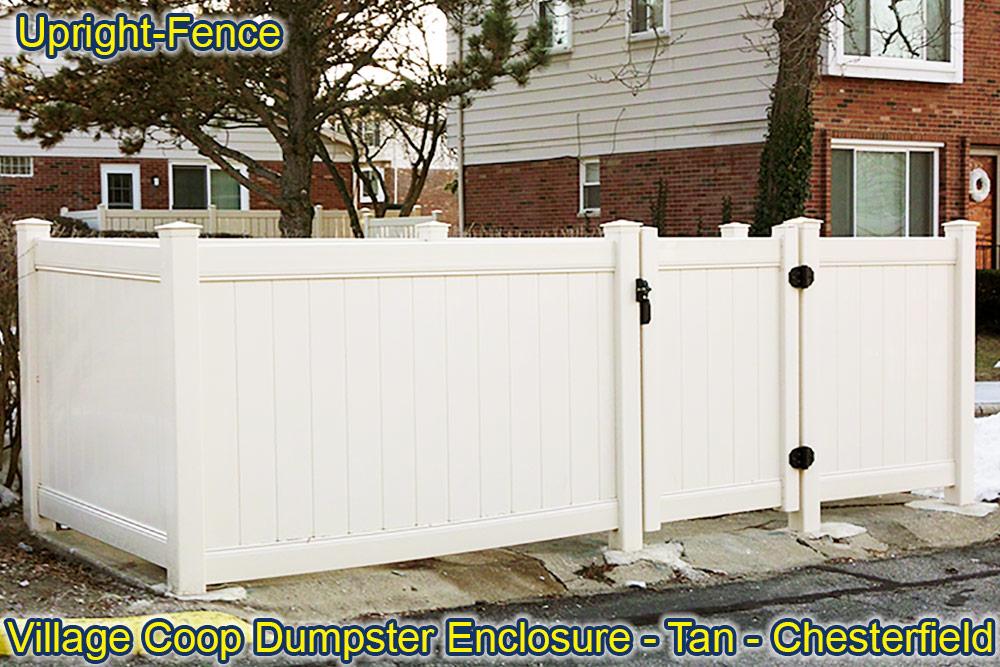 condo apartment fencing upright fence westland mi