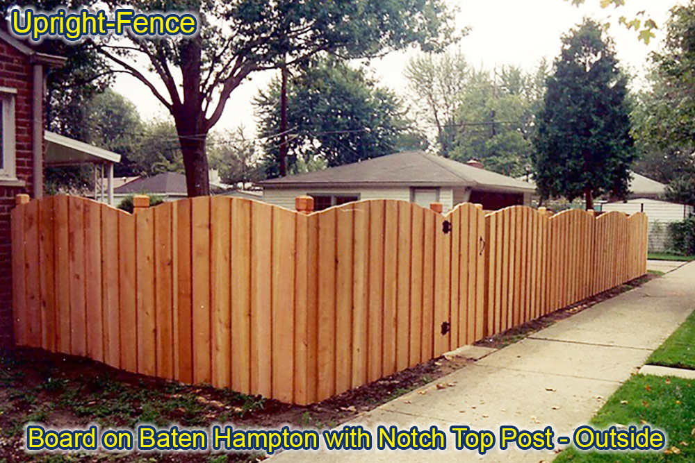 Wood Fences Upright Fence